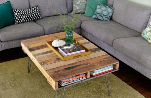 bauen mit paletten wohnzimmer möbel diy couchtisch selber bauen
