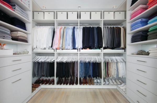 begehbare ideen für männer garderobe