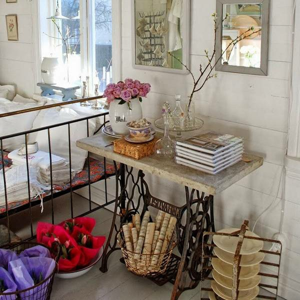 Alte Möbel neu gestalten – die alte Nähmaschine als Vintage Möbel ...