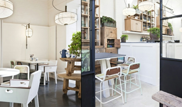 besondere restaurants Davids restaurant Melbourne einrichtungsideen möbel gastronomie