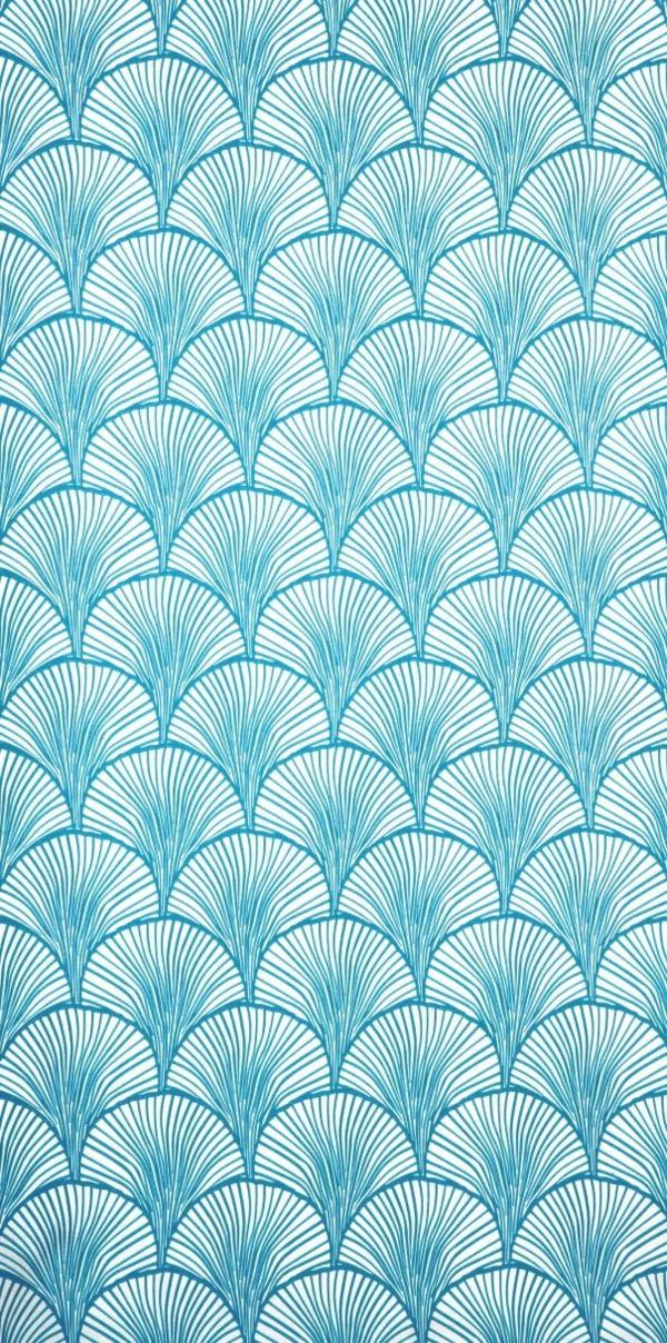 blaue tapete tapetenmuster abstrakt wandgestaltung ideen wandverkleidung