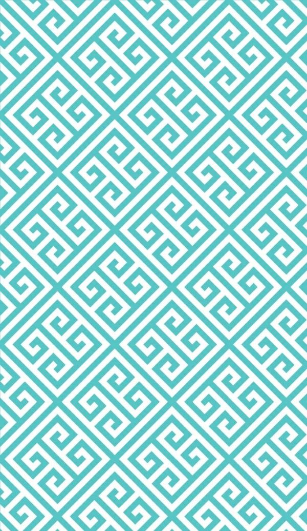 blaue wandtapeten tapetenmuster geometrisches muster türkis weiß
