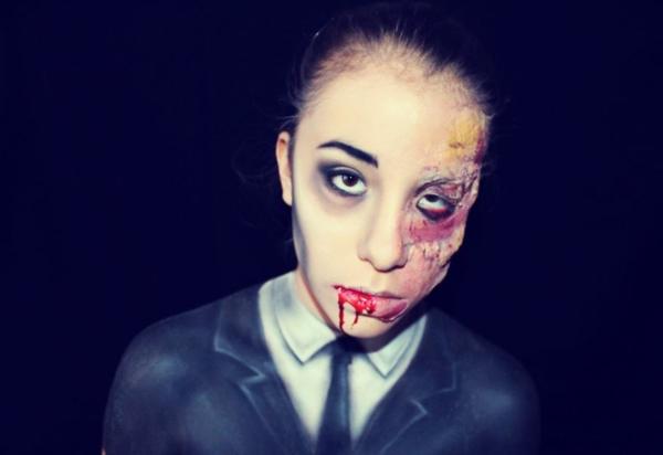 bodypainter halloween deko gesicht bemalen zombie vampire