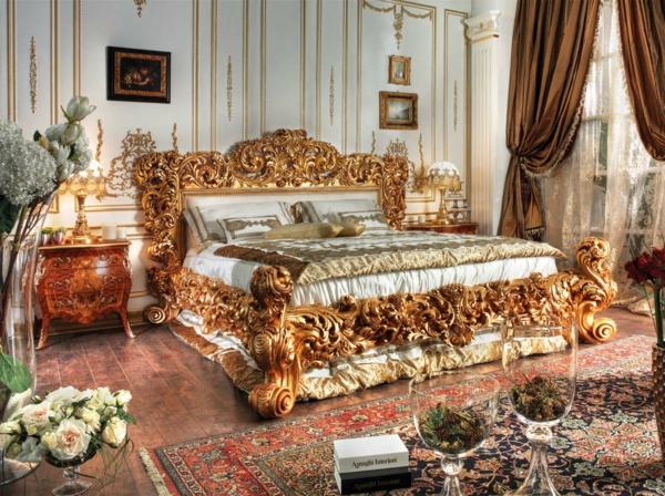 barock schlafzimmer einrichtung wie die adligen schlafen. Black Bedroom Furniture Sets. Home Design Ideas