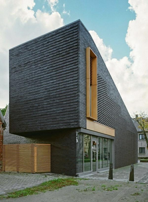 Moderne Fassadenverkleidung F 252 R Einen Eindrucksvollen
