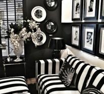 Die schwarze Tapete schafft eine künstlerische Wohnlandschaft in Ihrem Haus