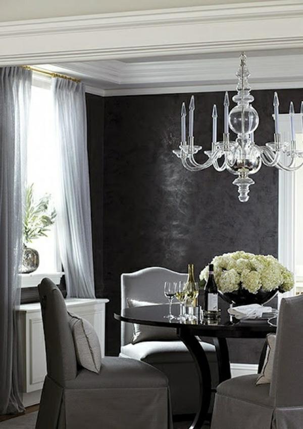 Schwarze Tapete Im Schlafzimmer : Schwarze Tapete schafft eine k?nstlerische Wohnlandschaft in Ihrem
