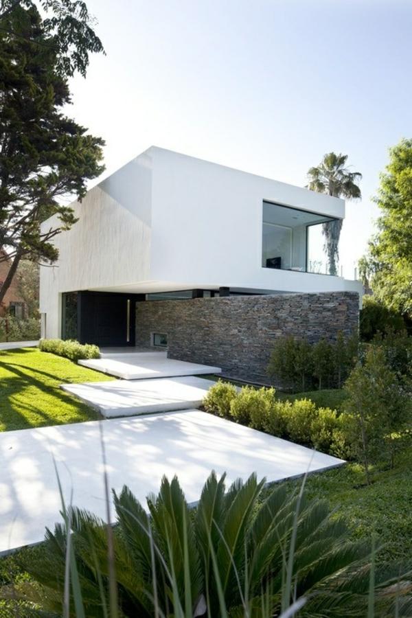 die fassade hausfassade betonpaneele steinwand zaun