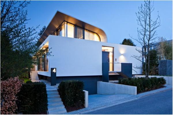 die fassade hausfassaden farben blau weiß mediterran modern
