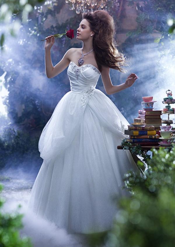 Sleeping beauty inspired wedding dress