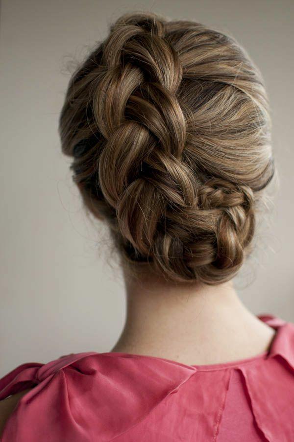 frisuren dirndl  schöne mädchen ideen oktoberfest elegant