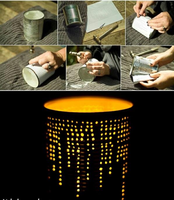 diy lampen laternen tischlampen dosen basteln