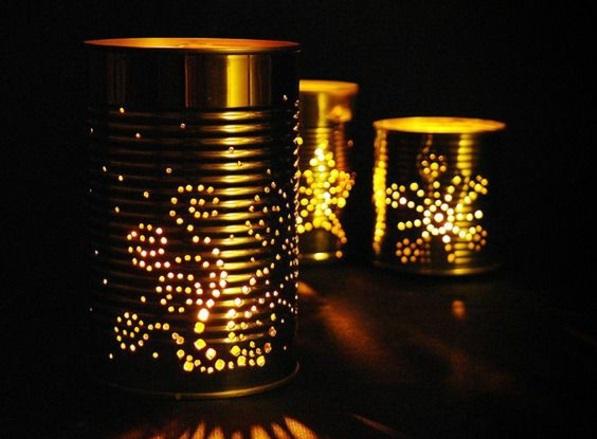 DIY Leuchten aus Dosen tischlampen glühbirnen