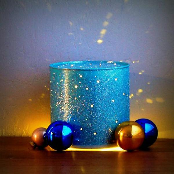laternen tischlampen DIY Leuchten aus Dosen glitzern