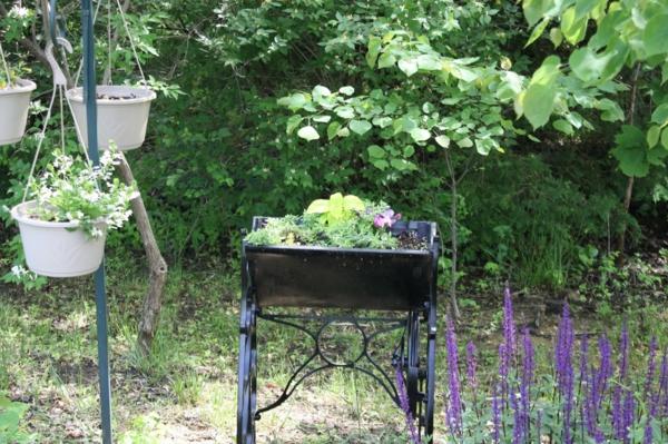 diy pflanzenbehälter aus alte nähmaschine