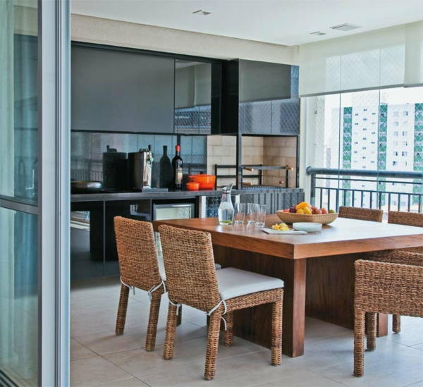 elegante küche veranda gestalten