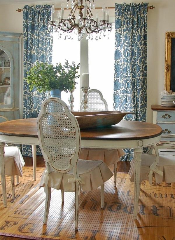 esszimmer gestalten shabby chic stil esstisch mit stühlen preiswerte möbel