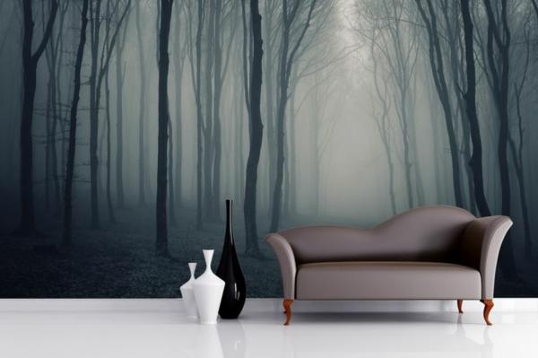 fototapeten wald - genießen sie die ruhe der natur! - Fototapete Wohnzimmer Schwarz Weiss