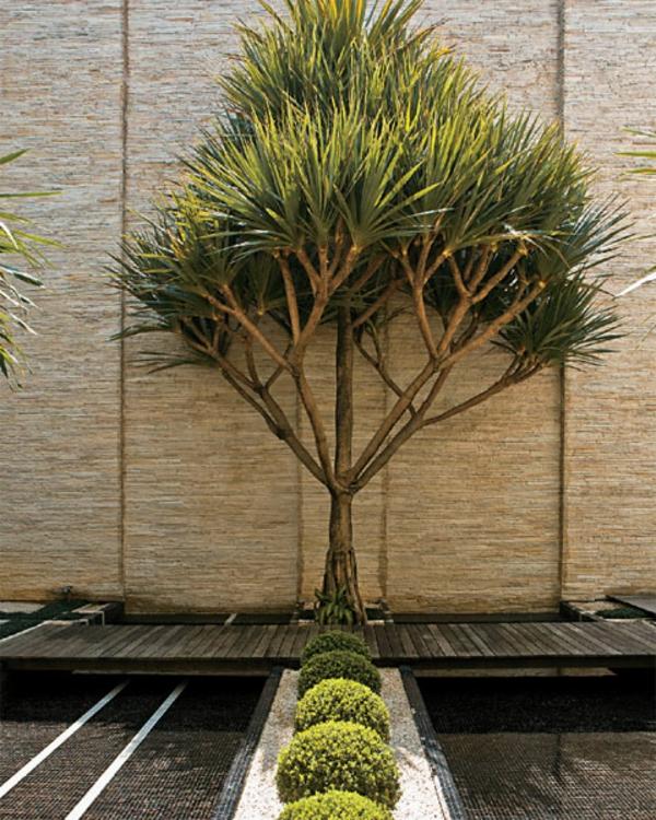 gartengestaltungsideen nachhaltiges bauen bambus holz sicht und sonnenschutz