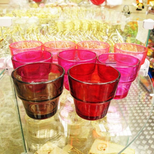 geschirr sets küchenutensilien gläser farbig