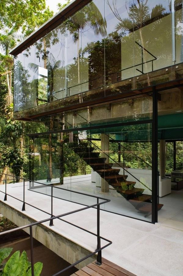 glas fassade für moderne häuser