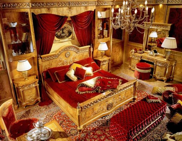 Barock Schlafzimmer Einrichtung   Wie Die Adligen Schlafen   Schlafzimmer  Einrichten Rot