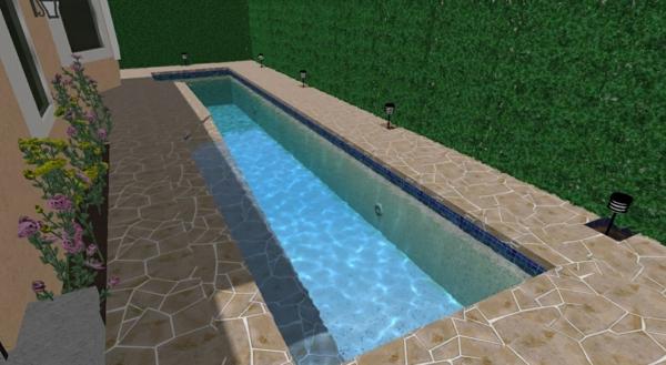 grüne wand als schwimmbad design