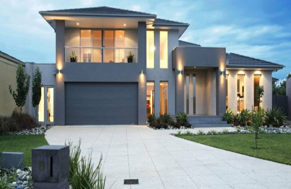Great Graue Fassade Modernes Haus