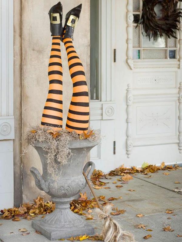 halloween deko eingangsbereich dekoration kreative bastelideen