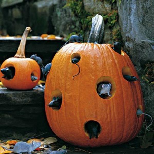 halloween deko selber machen - festliche bastelideen, Garten und Bauten
