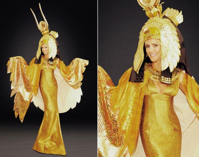 halloween kostüme cleopatra heidi klum seal halloween party 2012