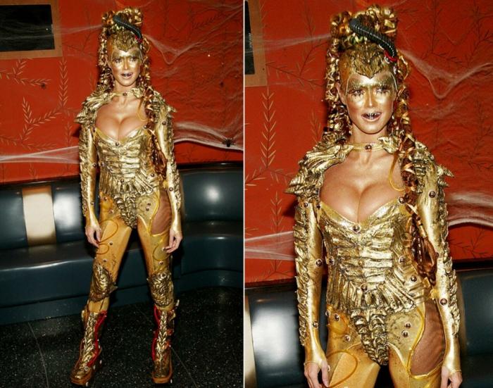 halloween kostüme ideen goldfee heidi klum 2003