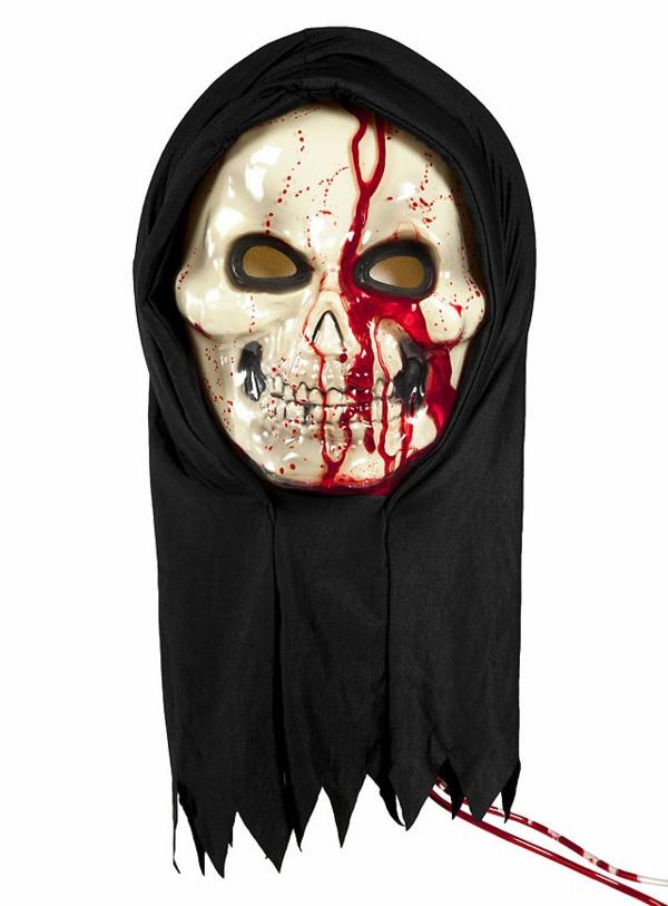 halloween-kostüme-verkleidungen-halloween-party-blühtende-skelettmaske