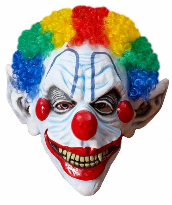 halloween maske clown farbige perücke rote nase halloween party kostüme
