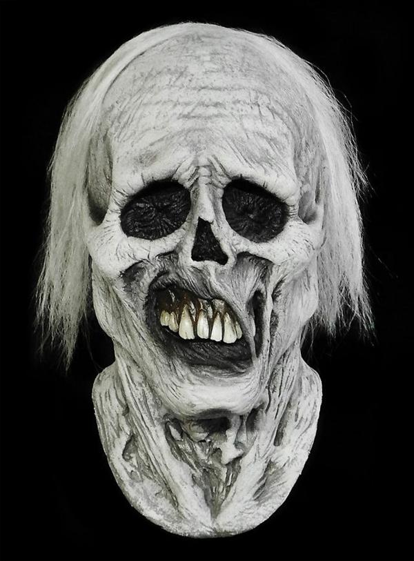 halloween masken und kostüme totenkopf weiße haare zähne