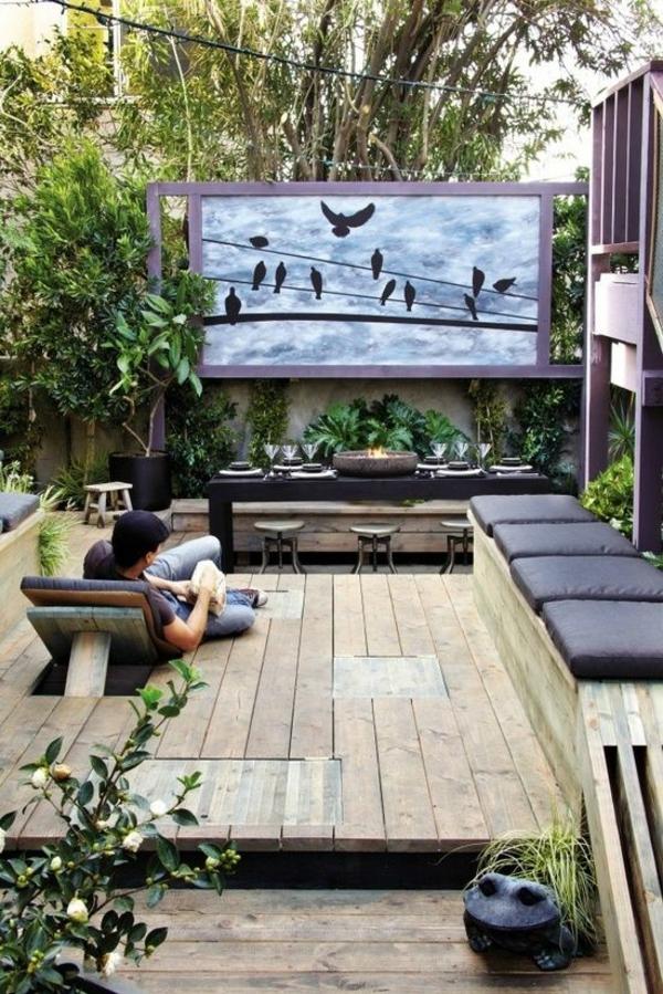 heimkino auf die terrasse einrichten