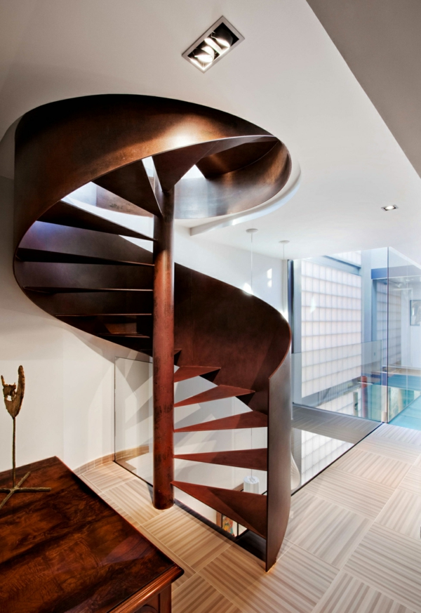 innendesign ideen treppen bronze