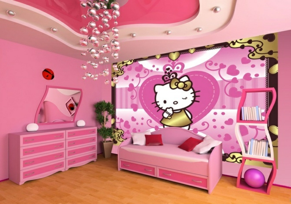 innendesign ideen f r die hello kitty fans. Black Bedroom Furniture Sets. Home Design Ideas