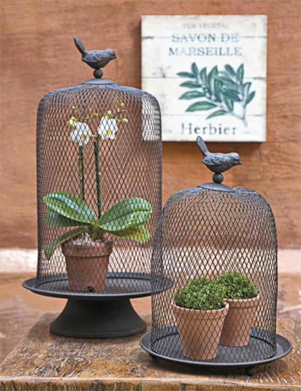 inspirierende dekoideen käfig vogel