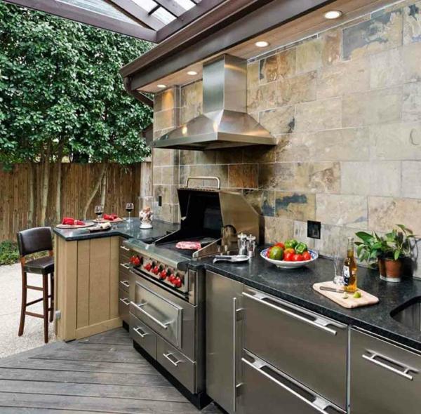 küche außenbereich inspirierende ideen