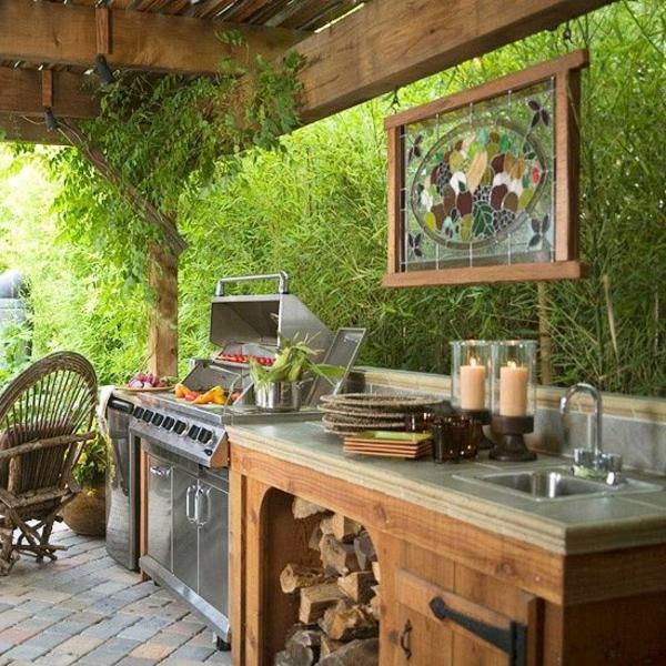 küche im innenhof attraktiv modern