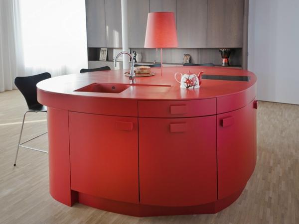 küche kücheninsel rotes design