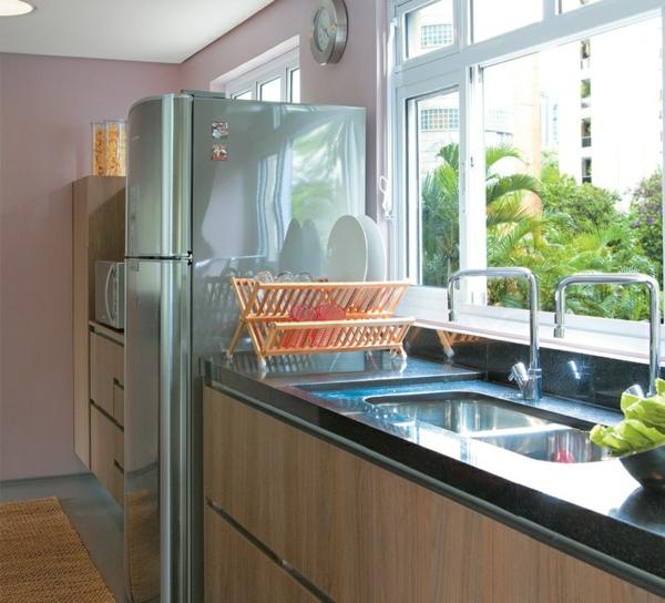 Küchengestaltung ideen wandgestaltung in pastellfarbe