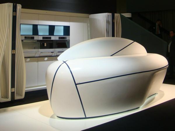 küchengestaltung kücheninsel raumschiff design