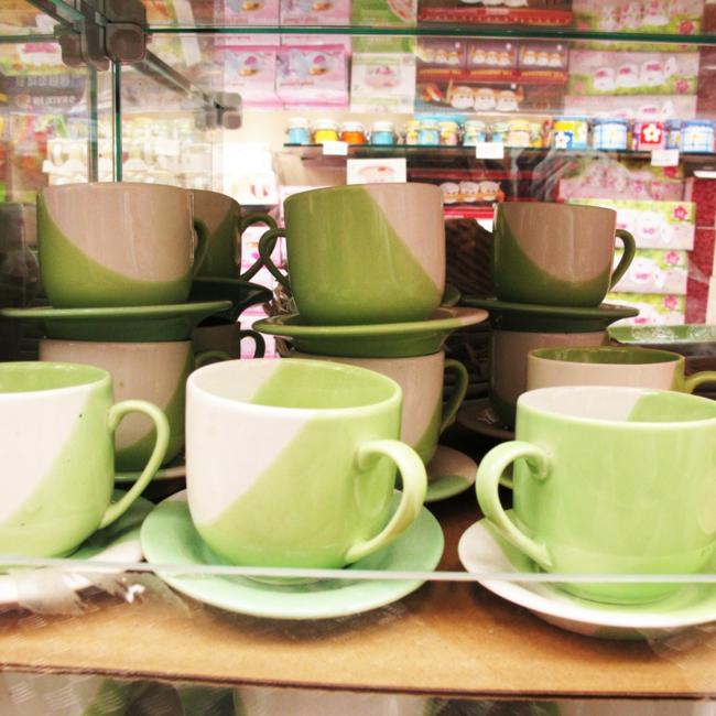 kaffeeservice tassen hellgrün teetassen wohnaccessoires tafelservice günstig