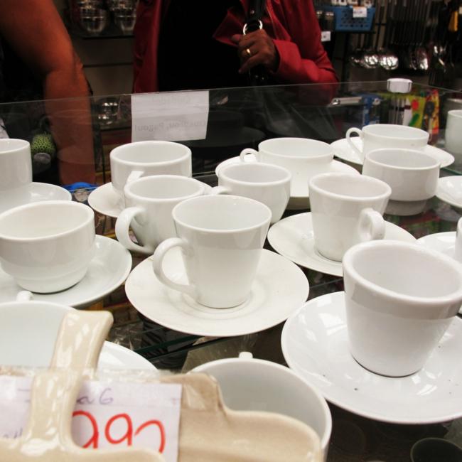 kaffeeservice tassen weiß kaffeetassen wohnaccessoires porzellan service