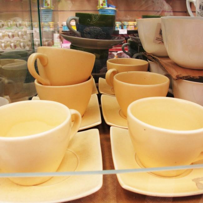 kaffeeservice weiß teetassen wohnaccessoires esszimmer