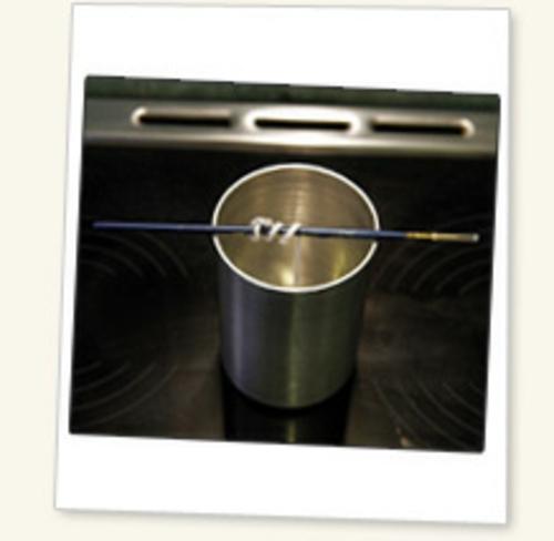kerzen selber machen baumwolle docht metall gefäß