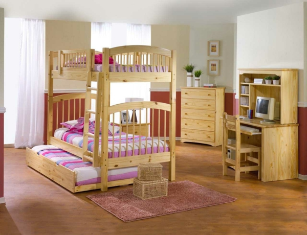kinderzimmer gestalten tolles kinderzimmer f r zwei m dchen. Black Bedroom Furniture Sets. Home Design Ideas