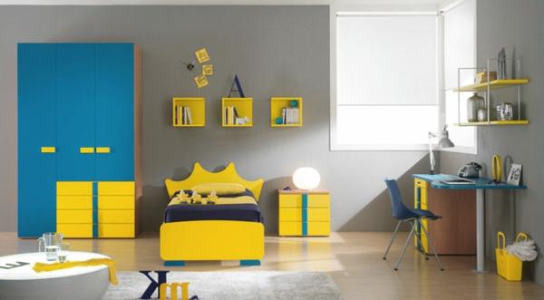 kinderzimmer gelbe elemente im interieur